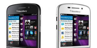 telefon biznesowy BlackBerry Q10 czarny i bialy